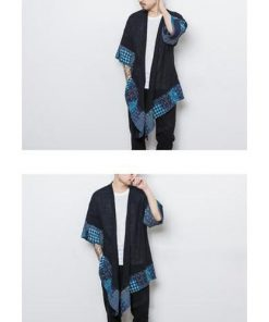 Awesome Patchwork Loose Long Kimono Coat