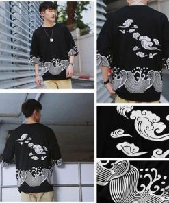 Cool Wind and Water Pattern Shirt