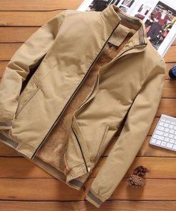 Men's Casual Slim Fit Cool Jacket-Dark Khaki